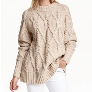 H&M cable-knit jumper size XS
